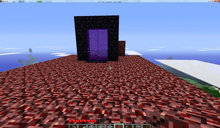 I Worked Through The Night To Build A Platform Around Nether Portal So Now Can Yet Another Stargate